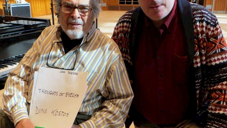 William Anderson and Leon Fleisher at Curtis recording session.